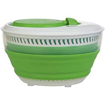 Progressive CSS-2 Green Collapsible Salad Spinner - 3 Quart Capacity