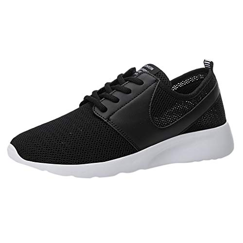 LUCAMORE Mens Casual Walking Shoes Blade Outdoor Sport Sneakers Mesh Breathable Fashion Shoe for Running Gym Black ()