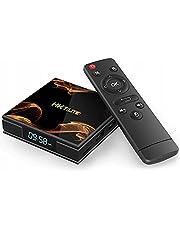 Retoo Smart TV-box met tv-afstandsbediening, Android tv-box met 2,4 GHz quad-core-processor, mediaspeler met resolutie 4k en Full HD, converter