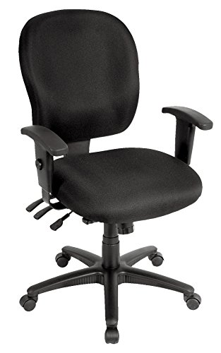 Eurotech Seating Racer FM4087-BLK Midback Swivel Chair, Black