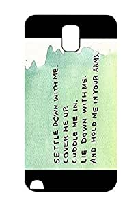 Case For Samsung Galaxy Note 3 N9005 Hand Written Ed Sheeran Quotes Design Cover