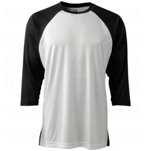 Champro Adult Completeゲーム3 / 4スリーブベースボールシャツ B00HM3YEUK X-Large|ブラック ブラック X-Large