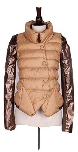 シティ展開するエレメンタル秋冬 コート ジャケット 暖かい シュート丈 3色 ダウン シングルブレスト モノトーン ブルゾン ブレザー ベスト エレガンス レディース カジュアル ファッション クマのぬいぐるみ付き sm0160