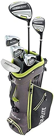 Amazon Com Top Flite Junior Boys Complete Golf Club Set Ages 9 12 Or 53 Up Kids Set Left Sports Outdoors