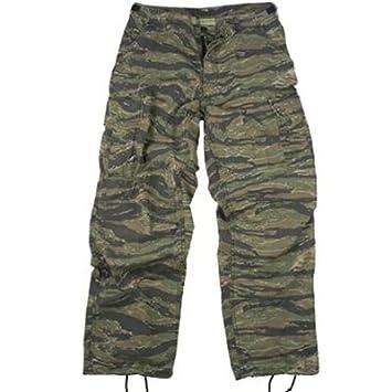 Amazon.com: Camouflage Cargo Pants Tiger Stripe Camo Vintage ...