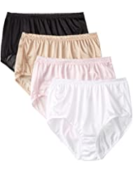 Just My Size Women's 4 Pack Nylon Brief Panty