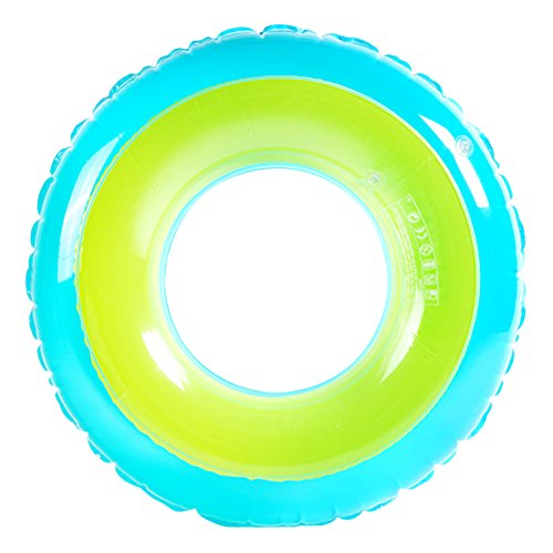 XFunino Inflatable Pool Float Large Size Swim Ring Dual Air Chamber 30''(inches) Water Tube Pool Raft Extra Thick Pool Toy Safty Pool Accessories for Kids/Teenagers ()