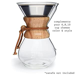 POUR OVER Coffee Filter - Reusable Cone Dripper with Silicone Grip for Chemex, Hario V60 and other Coffee Carafes