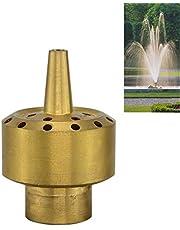 """Heymei Brass Flower Column Garden Square Pool Pond Water Fountain Sprayer Head (Brass, DN15/G:1/2"""")"""