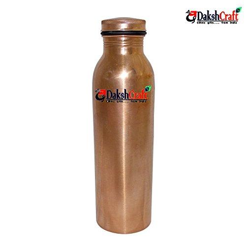 DakshCraft Handmade Copper Thermos Bottle with Lid by DakshCraft