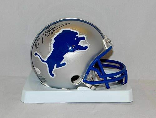 Barry Sanders Autographed Mini Helmet - 83 02 TB W Auth *Black - JSA Certified - Autographed NFL Mini Helmets