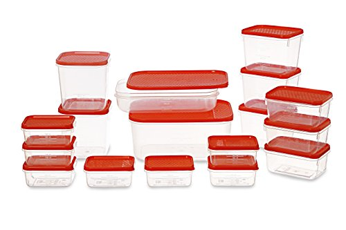 All Time Plastics Polka Container Set, 6.5 Litre, Set of 17, Blue