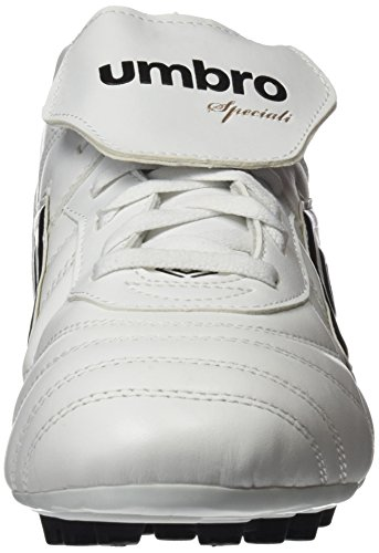 Umbro Umbro Speciali Eternal Premier Ag - Bota para hombres, color blanco / negro / clematis azul, talla 40.5