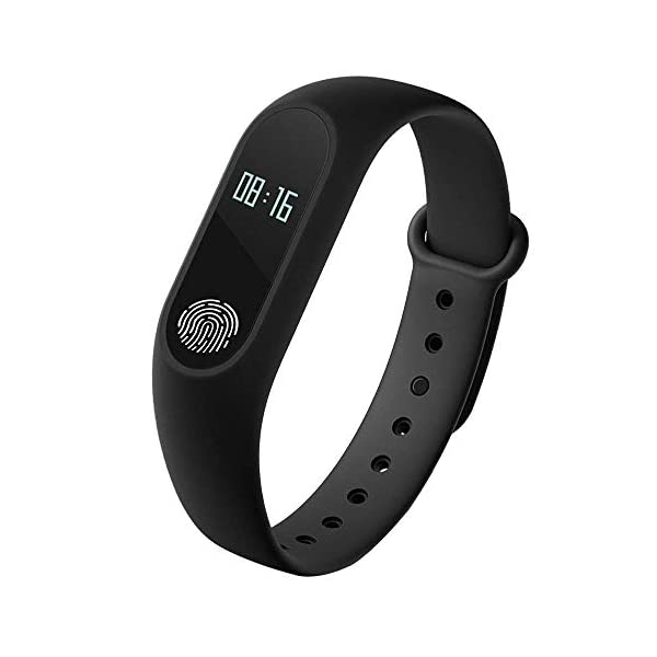 41YTF12bIOL RunSale Sports Smart Fitness Band 2 Bracelet/Fitband with Heart Rate Monitor Sensor M2 OLED Bluetooth Wristband…