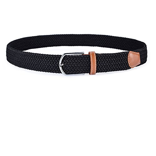 2-Pack-Womens-Canvas-Elastic-Fabric-Woven-Stretch-Multicolored-Braided-Belts