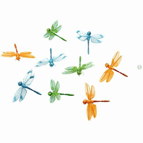 (ORGANZA MULTI COLOR DRAGONFLY GARLAND 3.25x78
