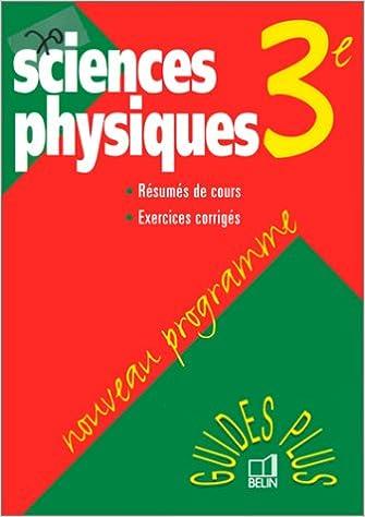 sciences physiques 3e nouveau programme