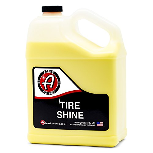 Adam's Tire Shine Gallon - Achieve a Lustrous, Dark, Long Lasting Shine - Non-Greasy and No Sling Formulation