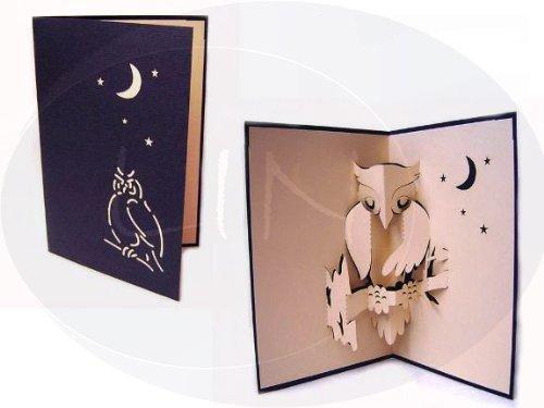 POP UP greeting card 3D animal card Owl