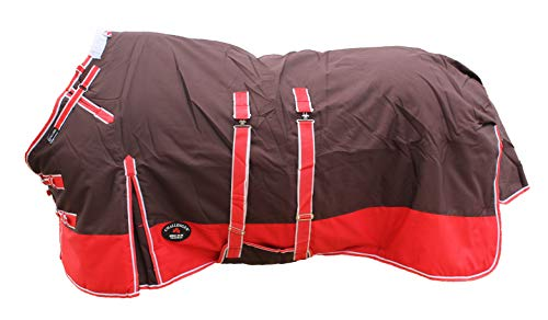 """CHALLENGER 78"""" 1200D Turnout Waterproof Horse Winter Blanket Heavy Belly Band 578B"""