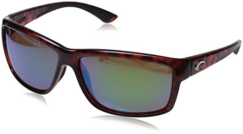 Costa del Mar Unisex-Adult Mag Bay AA 10 OGMGLP Polarized Iridium Wrap Sunglasses, Tortoise, 63.2 - Mar Costa Del Shades