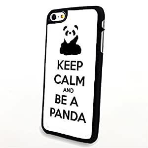 Generic Phone Accessories Matte Hard Plastic Phone Cases Quote Keep Calm and Be a Panda fit for Iphone 6