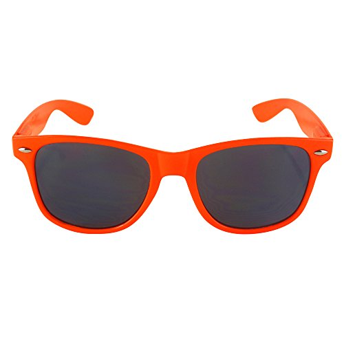 Retro Rewind Classic Wayfarer Sunglasses (Orange, Smoke)]()