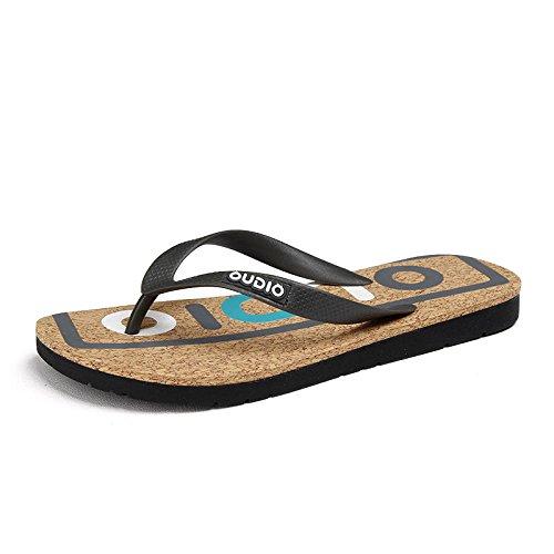 Xing Lin Sandalias De Hombre Nuevas Zapatillas De Playa De Moda De Verano Masculino Pizca Flip Flops Zapatillas Mar Slip gray