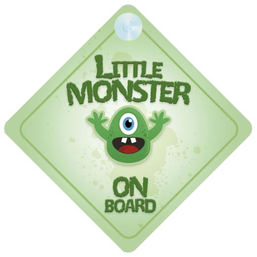 Little Monster On Board Car Sign New Baby / Child Gift / Present / Baby Shower (Monster Sign)