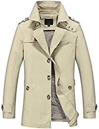 "<span class=""a-offscreen"">[Sponsored]</span>Men's Windbreaker Cotton Lightweight Military Style Jacket Casual Slim Fit Button Down Trench Coat"