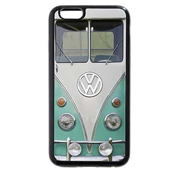 "UniqueBox Customized Black Soft Rubber(TPU) VW Minibus iPhone 6 4.7 Case, Only fit iPhone 6(4.7"")"