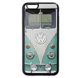 "UniqueBox Customized Black Soft Rubber(TPU) VW Minibus iPhone 6+ Plus 5.5 Case, Only fit iPhone 6+ (5.5"")"