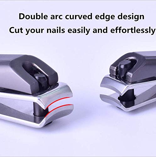 Donyanese Nail Clipper Set,Fingernail and Toenail Clippers Cutter,2PCS Sharp Stainless Steel Nail Cutter Trimmer Set With Metal Case,Best Nail Clipper for Men&Women