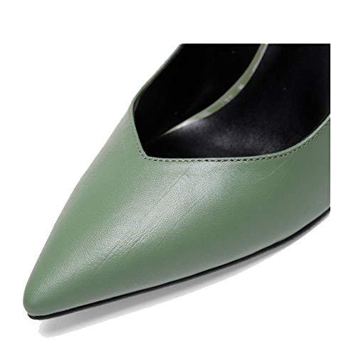 Talons Confort Chaussures Pointues Chaussures Beige ZPEDY Femmes Aiguilles Basses pour Automne Mode xwqfWTZHg7