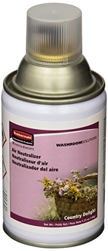 Rubbermaid Commercial FG4015061 Standard Aerosol Refill for Microburst Metered Air Care Systems, Country Delight