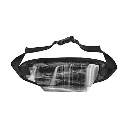 INTERESTPRINT Fanny Pack Waist Bag for Men & Women, Hidden Waterfall in Hocking Hills Ohio Fashion Belt Bag Crossbody Body Daypack