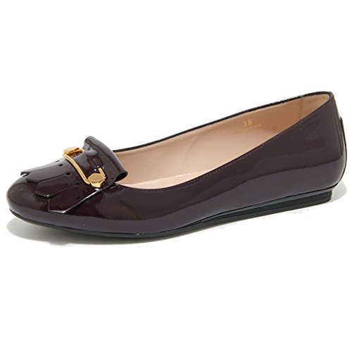 Lampone Gomma Frangia Shoes Tod's Scarpe Donna Women Ballerina 0455o ZqAI4