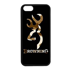 Browning Deer Camo for iphone 4ss Case Cover 016338 Rubber Sides Shockproof Protection with Laser Technology Printing Matte Result