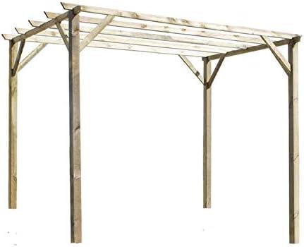 Pérgola de Madera Modelo León Plimfers 420x420 cm: Amazon.es: Hogar