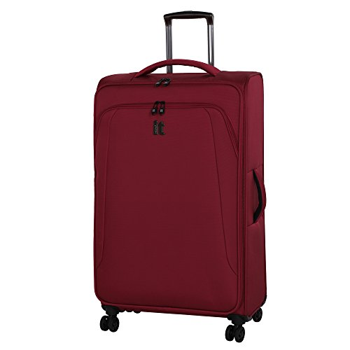 it luggage Megalite Vitality 30.7″ 8 Wheel Expandable Lightweight Carry-On Spinner, Rio Red