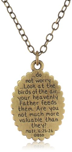 Bird and Matthew 6:25 26 Pendant Necklace, 30""