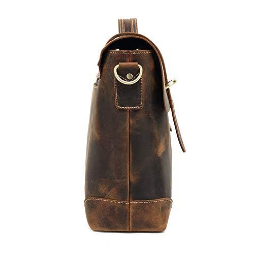 Sikungjlk-väska herr läder portfölj herr vintage bära axel messengerväskor stor kapacitet väskor för affärer vardag