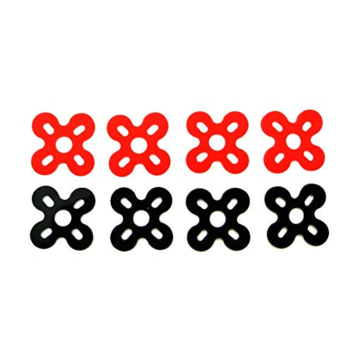 Part & Accessories 8pcs/lot Silicon material motor spacer damper Anti-vibration Motor Pad for 22xx 23xx series motor protector FPV Race Drone kit - (Color: Black) ()