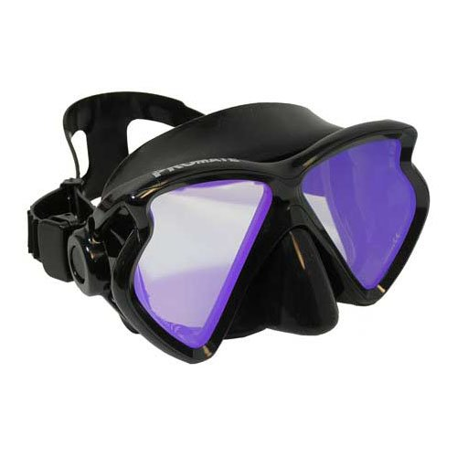 Promate Scuba Dive Diving Mask Snorkeling Color Correction Mask with Tinted Lenses Snorkel, Yellow lenses by Promate