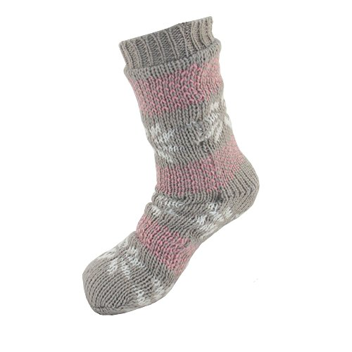 10d Thermal - Extra Thick Soft Warm Cozy Fuzzy Thermal Cabin Fleece-lined Knitted Non-skid Crew Socks ,Women XL (US 10-13),Thermal - Color 10d