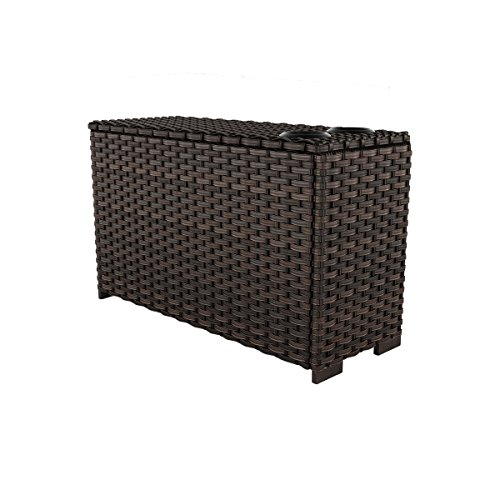 Ashley Furniture Signature Design - Spring Ridge Outdoor Console with Drink Holders - Brown