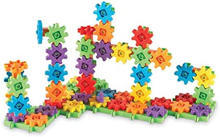 Learning Resources Gears Gears Gears 100-Piece Deluxe Building Set STEM Construction Toy Set 100 Pieces Ages 3+