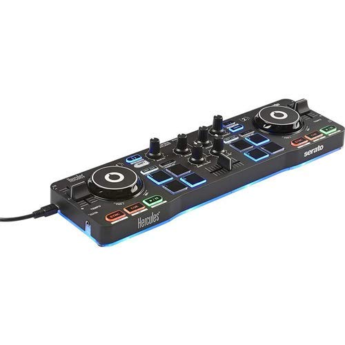 Hercules DJControl Starlight with LED Light & Resident Audio R100 Stereo Headphones Bundle by Hercules (Image #2)