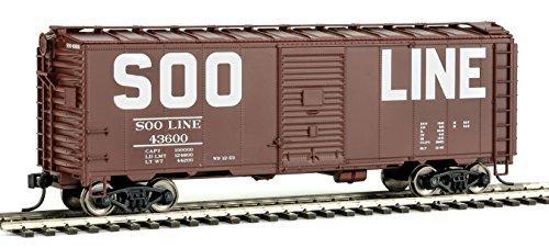 Walthers HO Scale 40' AAR Modified 1937 Boxcar Soo Line (Block Lettering) #43600 (Modified 40' Aar Boxcar)