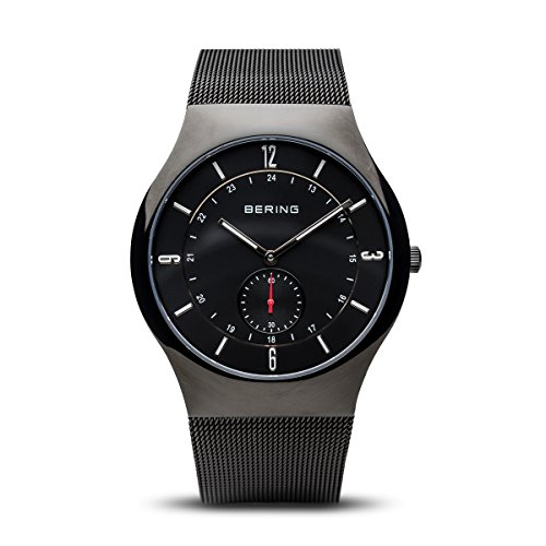 BERING Time 11940-222 Mens Classic Collection Watch with Mesh Band and scratch resistant sapphire crystal. Designed in Denmark. by Bering